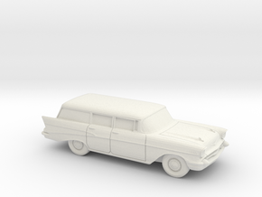 1/43 1957 Chevrolet Bel Air Station Wagon in White Strong & Flexible