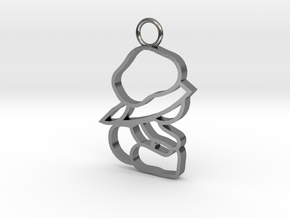 Top & Tail Silver Sitting Baby Figure in Polished Silver