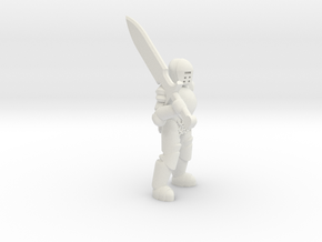 General Paladin Mini (Greatsword) in White Natural Versatile Plastic