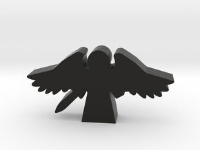 Game Piece, Angel with Flying Wings and Sword in Black Natural Versatile Plastic