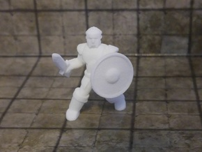 General Fighter Mini (Sword and Shield) in White Natural Versatile Plastic: 1:56