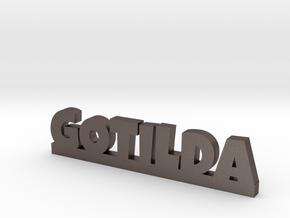 GOTILDA Lucky in Polished Bronzed Silver Steel