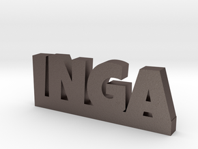 INGA Lucky in Polished Bronzed Silver Steel