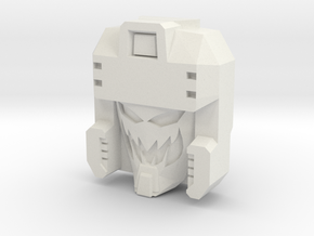 Blitzwing, Random Face (Titans Return) in White Natural Versatile Plastic