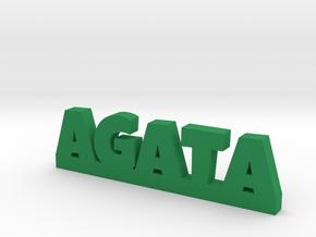 AGATA Lucky in Green Processed Versatile Plastic