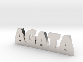 AGATA Lucky in Rhodium Plated Brass