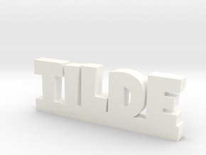 TILDE Lucky in White Strong & Flexible Polished