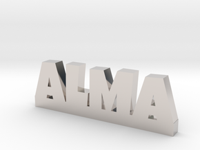 ALMA Lucky in Rhodium Plated Brass