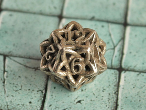 Celtic D12 in Polished Bronzed Silver Steel
