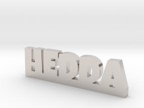 HEDDA Lucky in Rhodium Plated Brass