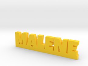 MALENE Lucky in Yellow Strong & Flexible Polished