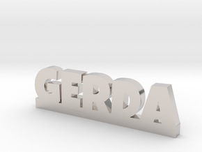 GERDA Lucky in Rhodium Plated Brass
