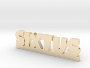 SIXTUS Lucky in 14k Gold Plated Brass