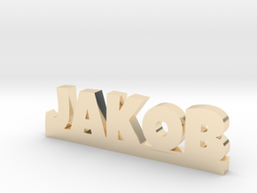 JAKOB Lucky in 14k Gold Plated Brass