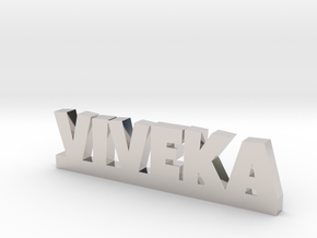 VIVEKA Lucky in Rhodium Plated Brass