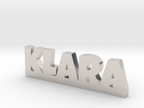 KLARA Lucky in Rhodium Plated Brass