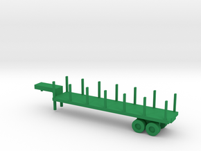 1/144 Scale M270 Semitrailer Low Bed in Green Strong & Flexible Polished