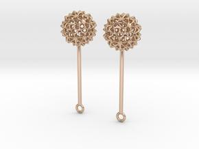 Virus Ball -- Earring Jackets or Earrings in Metal in 14k Rose Gold