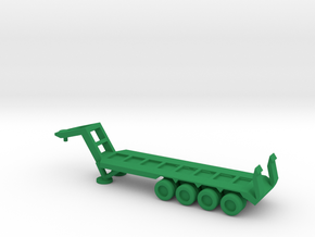 1/144 Scale M747 Semitrailer Low Bed in Green Strong & Flexible Polished
