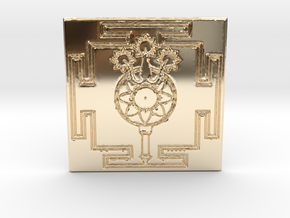 Lord Shiva's Yantra in 14k Gold Plated