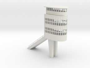 Control Tower Autodromo Monza - Slot car in White Natural Versatile Plastic