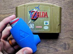 Ocarina Inhaler in Blue Processed Versatile Plastic