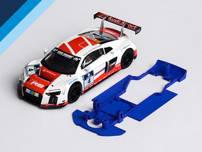 1/32 SCX Audi R8 LMS Chassis for Slot.it AW pod in White Natural Versatile Plastic