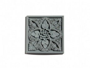 Arabic Alhambra Tile in White Natural Versatile Plastic
