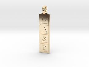PC Gamer's Keyring/Pendant in 14k Gold Plated Brass