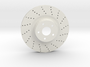 Sport Ventilated Brake Disk in White Strong & Flexible