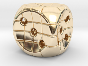 The Net D6 in 14k Gold Plated Brass