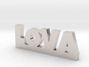 LOVA Lucky in Rhodium Plated Brass