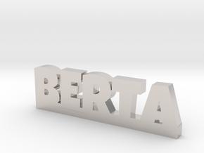 BERTA Lucky in Rhodium Plated Brass