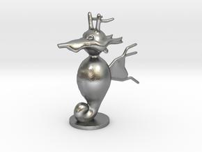 Kingdra in Natural Silver