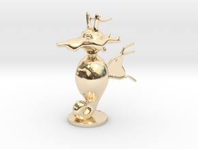Kingdra in 14k Gold Plated Brass