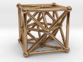 Metatron's Cube - Merkaba Cube in Polished Brass