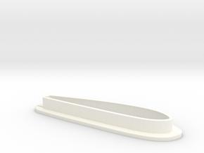EC135 500 Fin Surround Right in White Processed Versatile Plastic