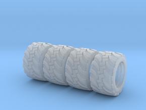 H0 1:87 Geländereifen für Herpa LKW Hinterradfelge in Smooth Fine Detail Plastic