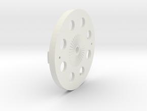 Dens Spinner Backplate 2 Blade in White Natural Versatile Plastic