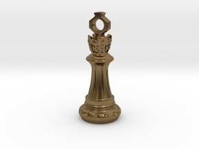 Chess King Pendant in Natural Bronze