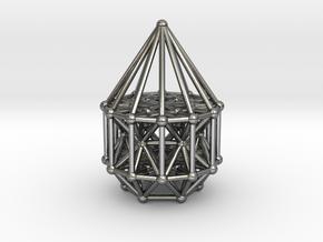 Merkaba Matrix Stargate in Polished Silver