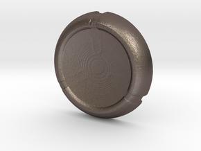 Kanoka disk in Polished Bronzed Silver Steel