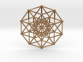 Penteract - 5d Hypercube - E5 in Polished Brass