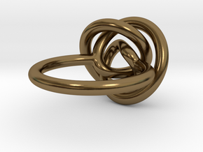 Infinity Knot Ring in Polished Bronze: 5 / 49