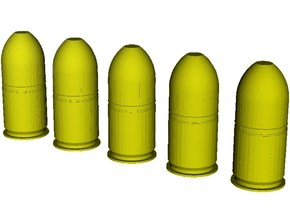 1/24 scale M-781 40x46mm grenades x 5 in Smooth Fine Detail Plastic
