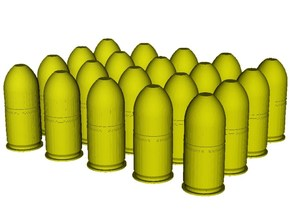 1/24 scale M-781 40x46mm grenades x 20 in Smoothest Fine Detail Plastic
