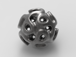 Gyroid Sphere #1 in Matte Black Steel