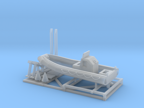 1/144 23 foot RHIB with stand in Smooth Fine Detail Plastic