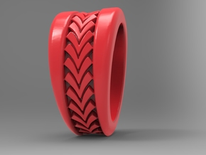 Spruce Ring Pl in Red Strong & Flexible Polished: 10 / 61.5