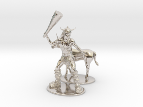 Bobby the Barbarian & Uni Miniatures in Platinum: 1:60.96